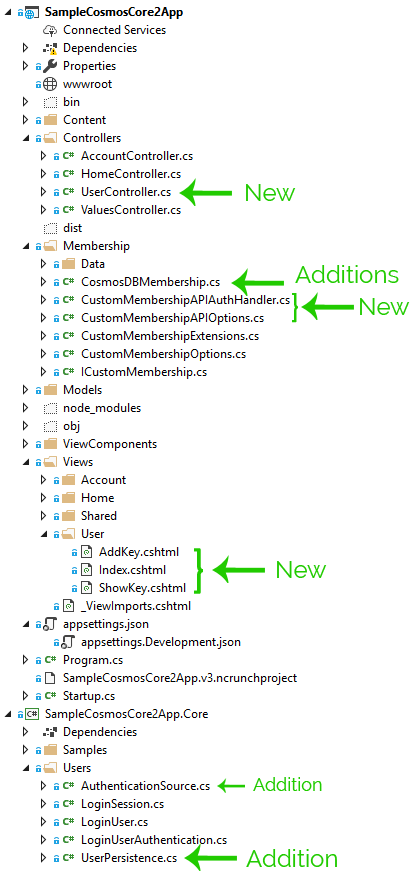 Adding User-Managed API Keys to ASP Net Core 2 w/ Cosmos DB