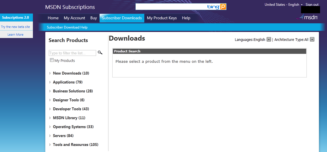 LessThanDot - MSDN subscriber downloads is getting a new look